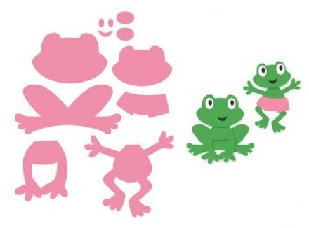 COL1352 ~ FROG ~ Marianne Design Collectables